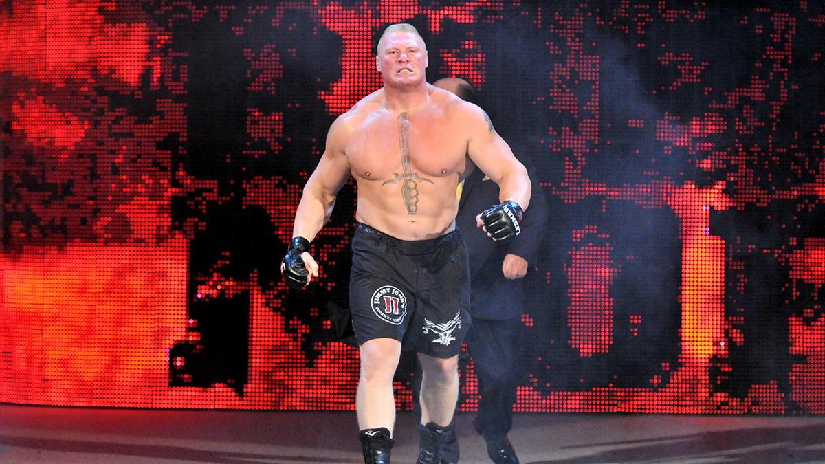 the undertaker vs brock