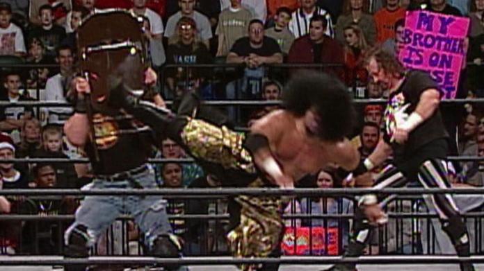 Terry Funk vs. Meng vs. Crowbar - WCW Hardcore Championship Match: Sin 2001  | WWE
