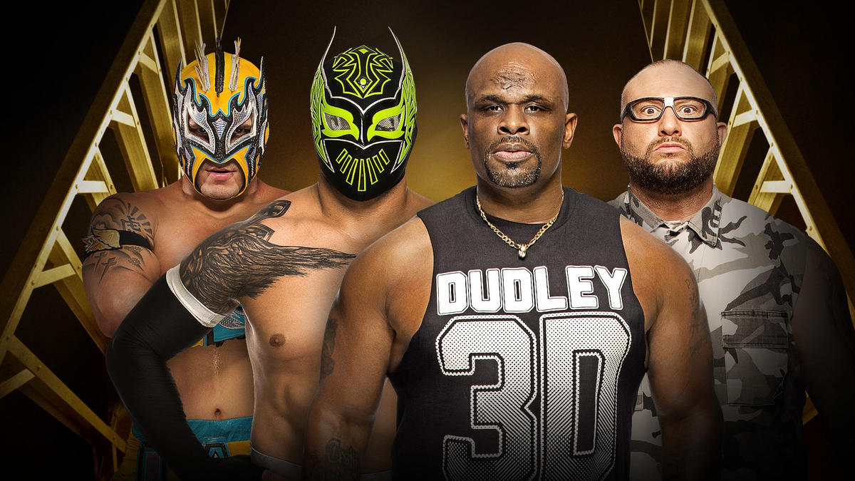 Image result for Lucha Dragons vs. Dudley Boyz- Money in the Bank Kickoff