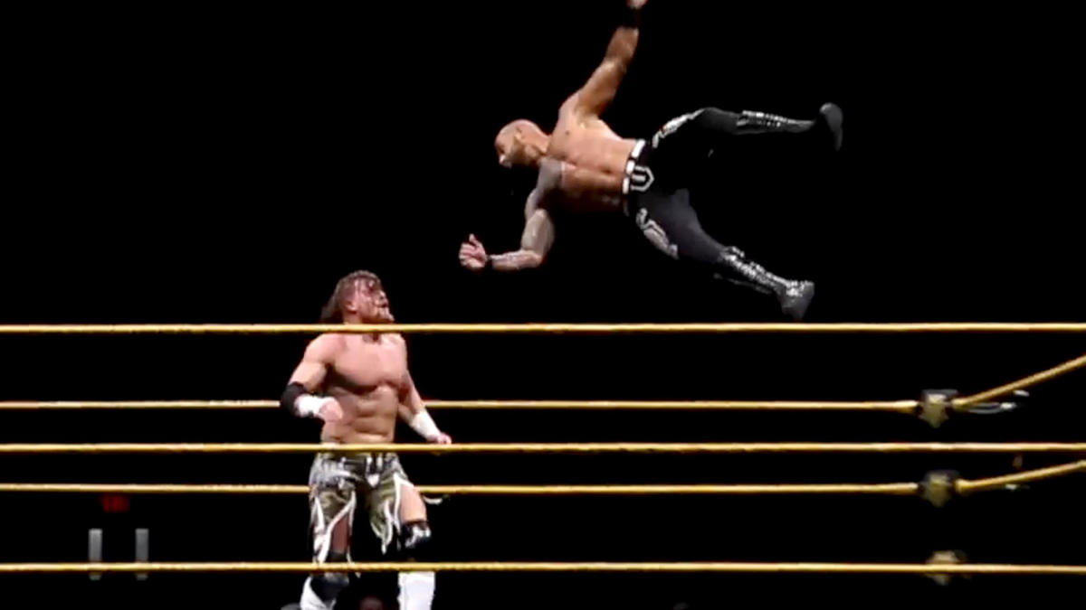 Ricochet blows the roof off at NXT Live Event debut in