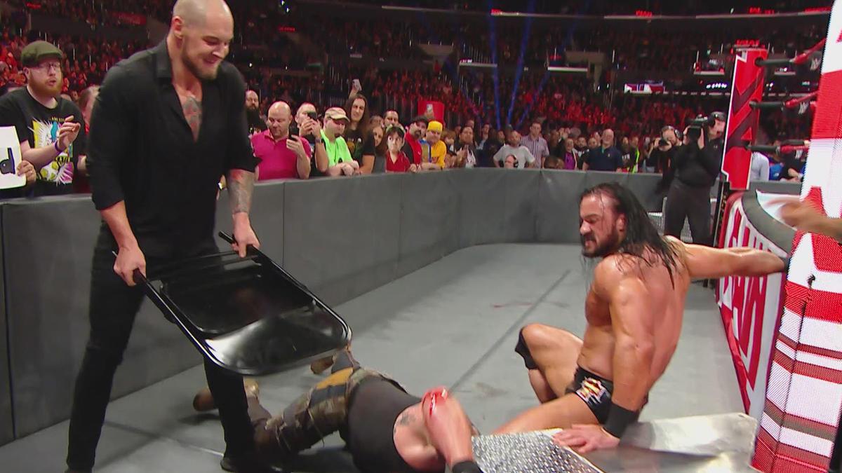 Braun Strowman Finn Blor  Elias vs Drew McIntyre