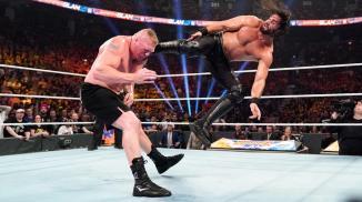 Brock Lesnar vs. Seth Rollins — Universal Championship Match: photos   WWE
