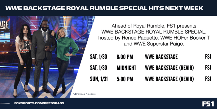 WWE Backstage returns with Royal Rumble Special next Saturday