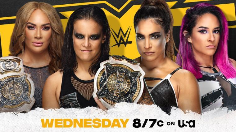 Nia Jax & Shayna Baszler put WWE Women's Tag Team Titles on the line against Raquel González & Dakota Kai