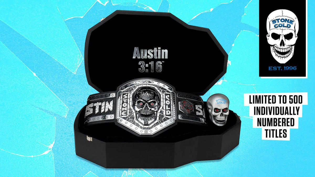 """Limited Edition """"Stone Cold"""" Legacy Title now available on WWE Shop"""