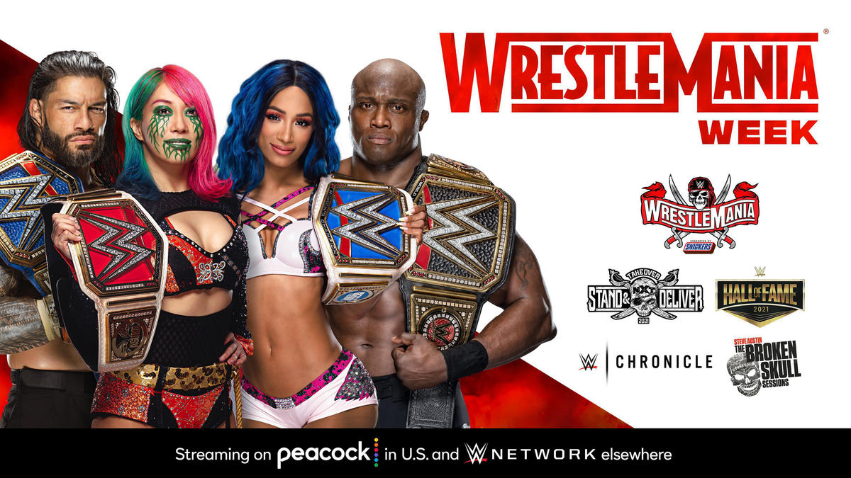 See what's streaming WrestleMania Week on Peacock and WWE Network