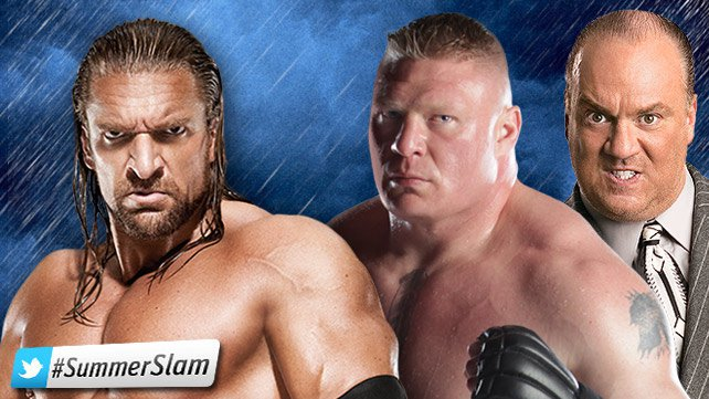Triple H vs. Brock Lesnar. / www.wwe.com