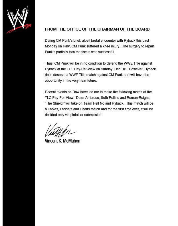 Letter from Vince, QUICKLY STEAL THE SIGNATURE