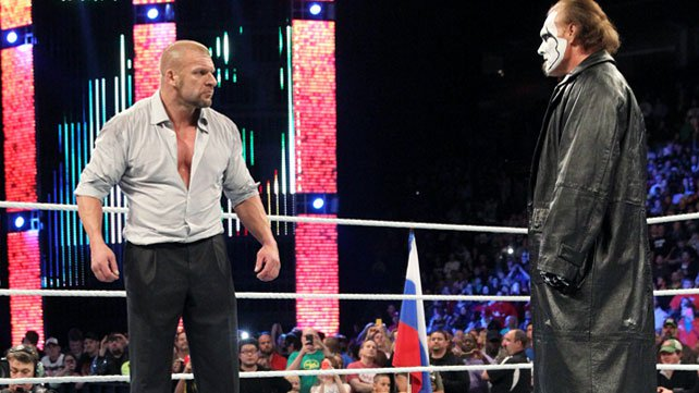 Sting made a shocking debut at the conclusion of the 2014 WWE Survivor Series.
