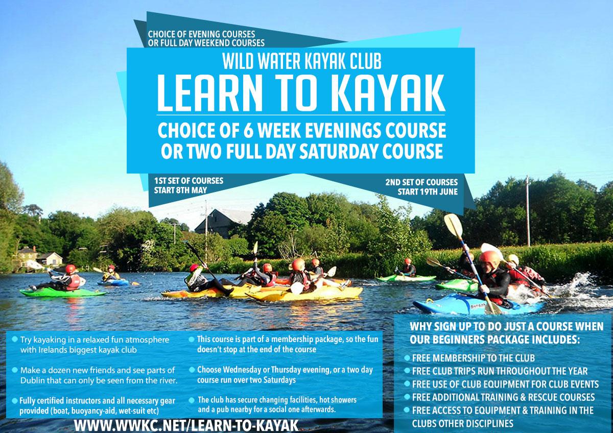 Beginners Kayaking Courses Dublin