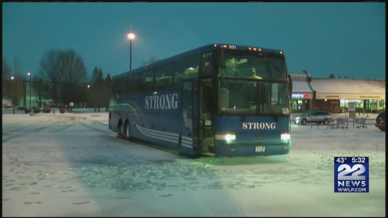 Western Mass runners board bus to Boston Marathon