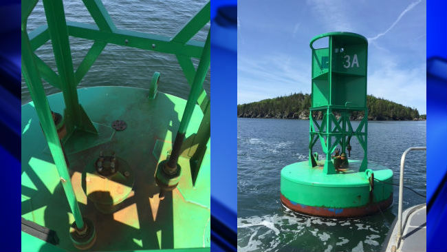 theft of sound signaling devices from navigational buoys off Maine's coast