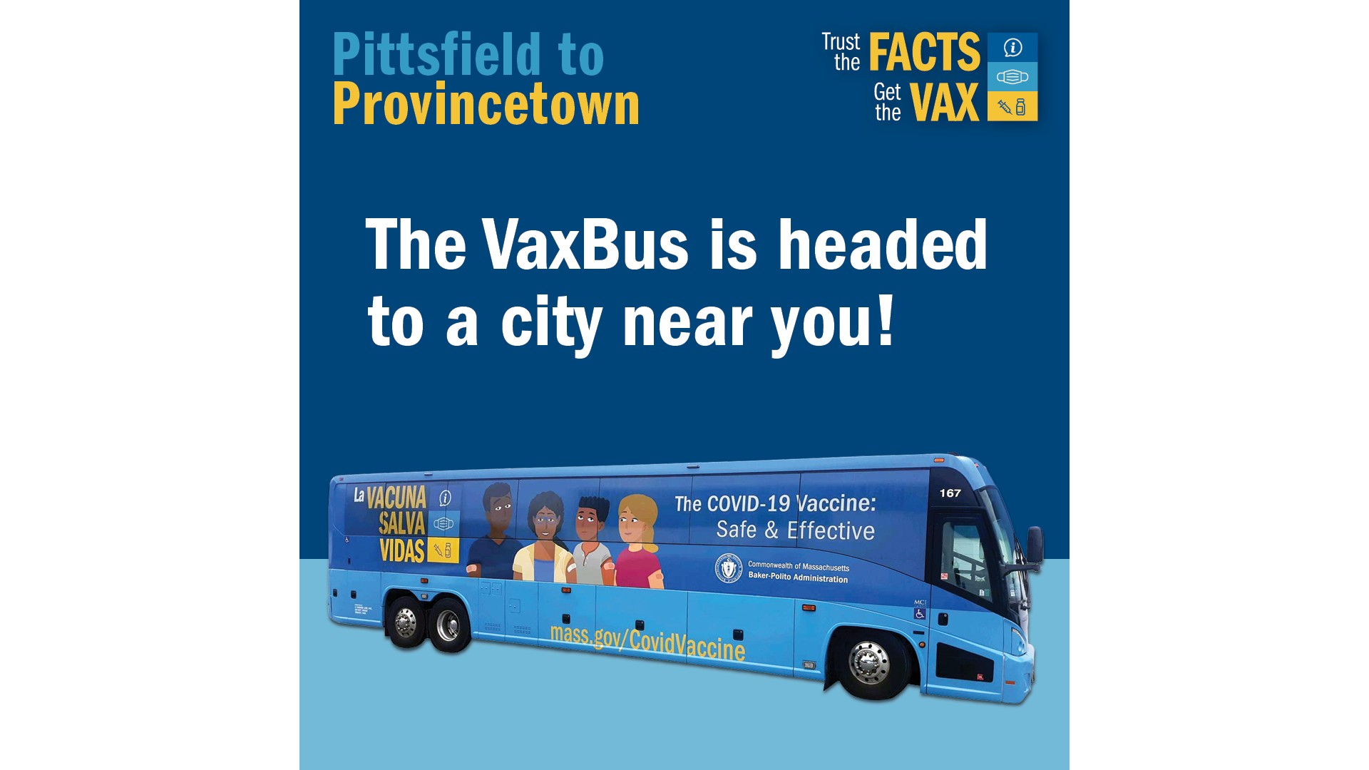 Massachusetts 'Vax Bus' mobile COVID-19 vaccine clinic rolls into West Springfield