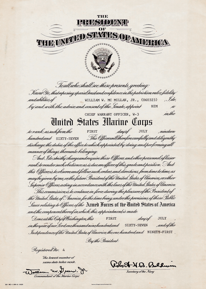 Us Army Promotion Certificate Template