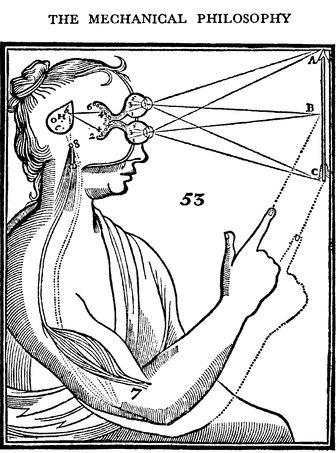 O fantásma na máquina: assim ficou popularmente conhecida a rigorosa dicotomia cartesiana entre mente e matéria, por consequência entre a complexidade da mente e a anócua simplificação maquínica.
