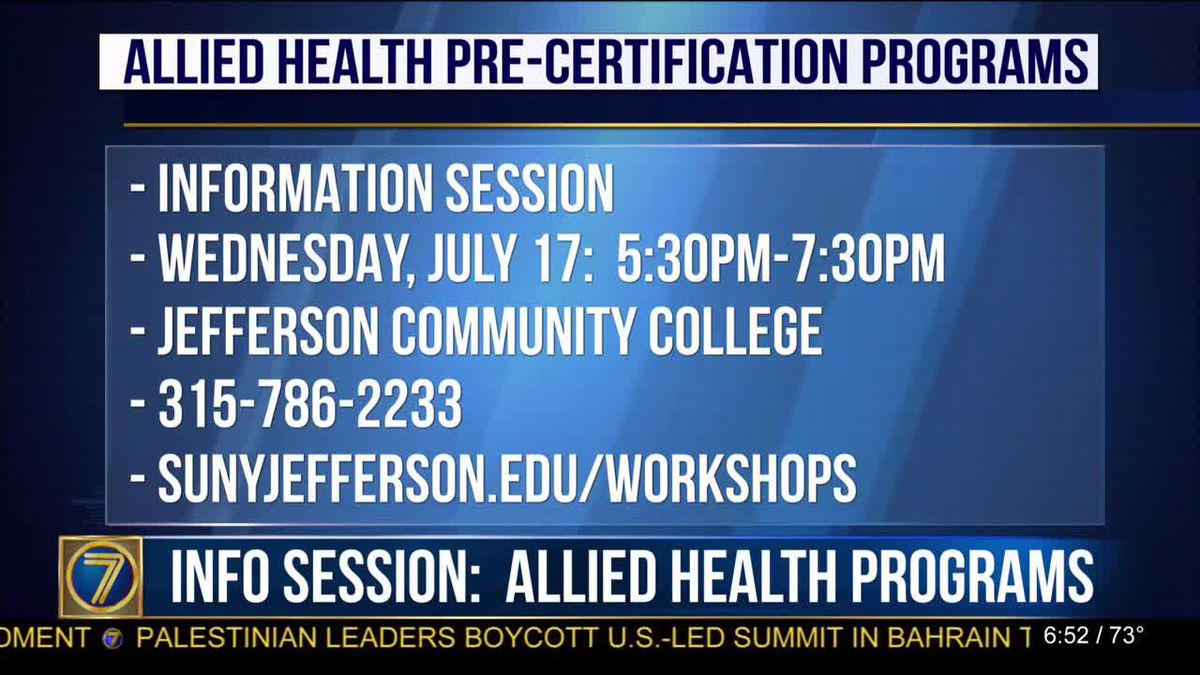 Find out more about health careers at JCC info session