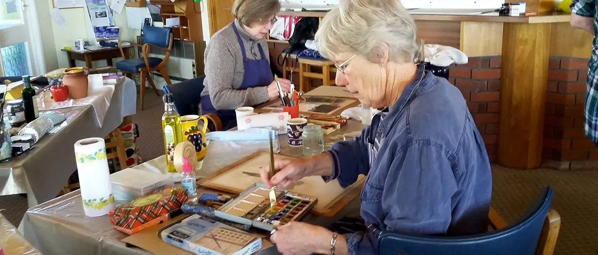 West Wight Painting Circle Workshop at Yarmouth Sailing Club