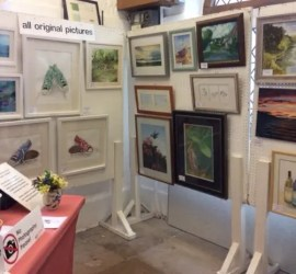 some of the paintings at the Easter Exhibition 2018
