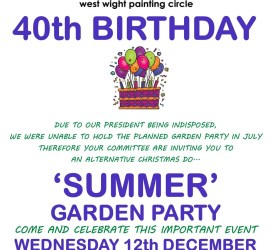 WWPC 40th Garden Party Celebrations Poster