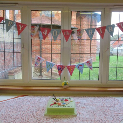 WWPC 40th Anniversary Garden Party Cake and Bunting