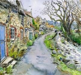 Maria Ward painting of Winkle Street Isle of Wight
