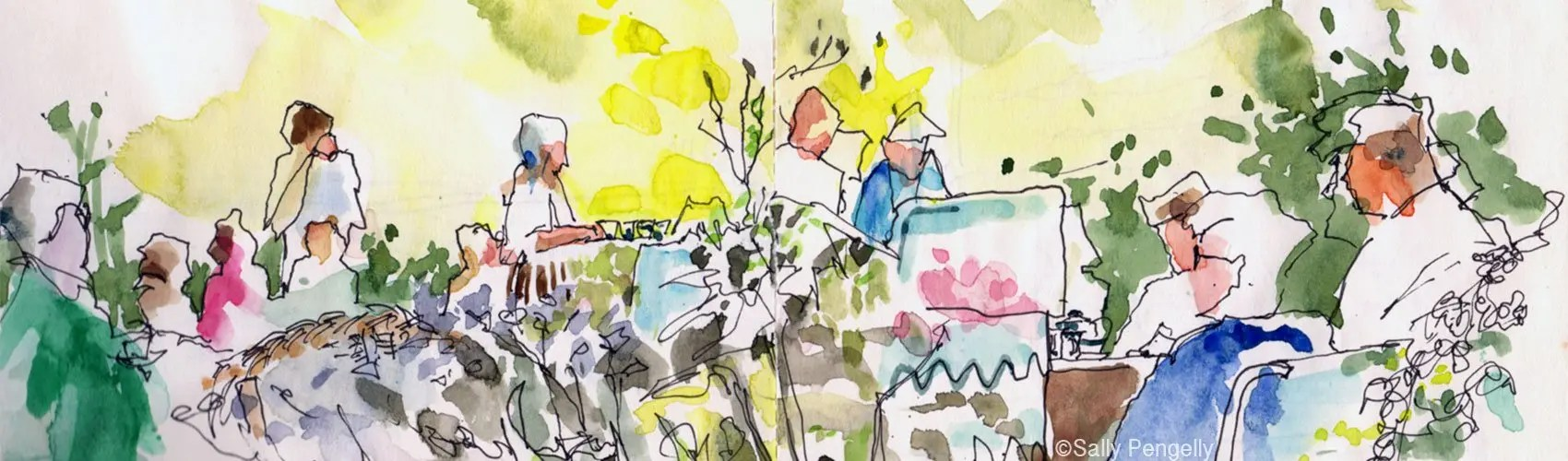 Sally Pengelley, Summer Tea Party, Rachels Garden