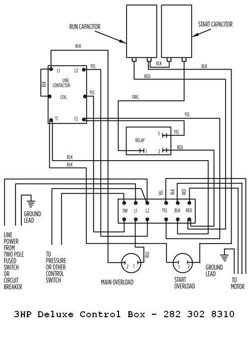 franklin well pump control box wiring diagram chevrolet colorado radio 3hp 230v deluxe