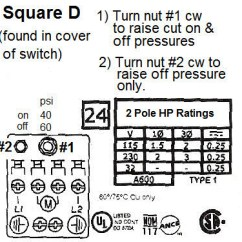 Square D Wiring Diagram Single Phase Capacitor Run Motor 40 60 Pump Pressure Switch Adjustment Info