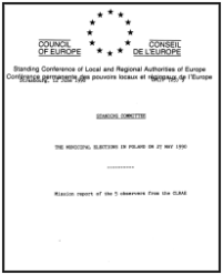 CLRAE report from 1990 municipal election in Poland
