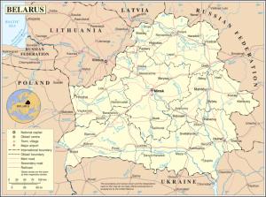 Mapa Białorusi