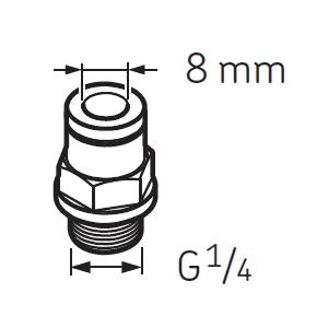LAPF M1/4 Tube connection male G1/4 for SKF System 24