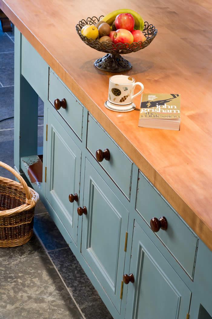 wood top kitchen island trash bins wychwwod furniture 1