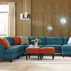 Custom Sofa San Diego Anese Teal Color Sectional Made In The Usa Los Angeles