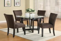 Furniture Outlet, round tempered glass Dining Table Set ...