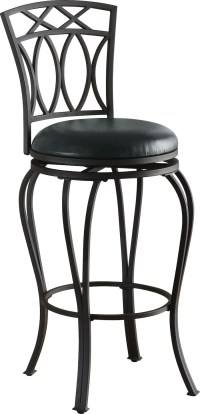Coaster 122060 Swivel Metal and Black Leatherette Bar Stool