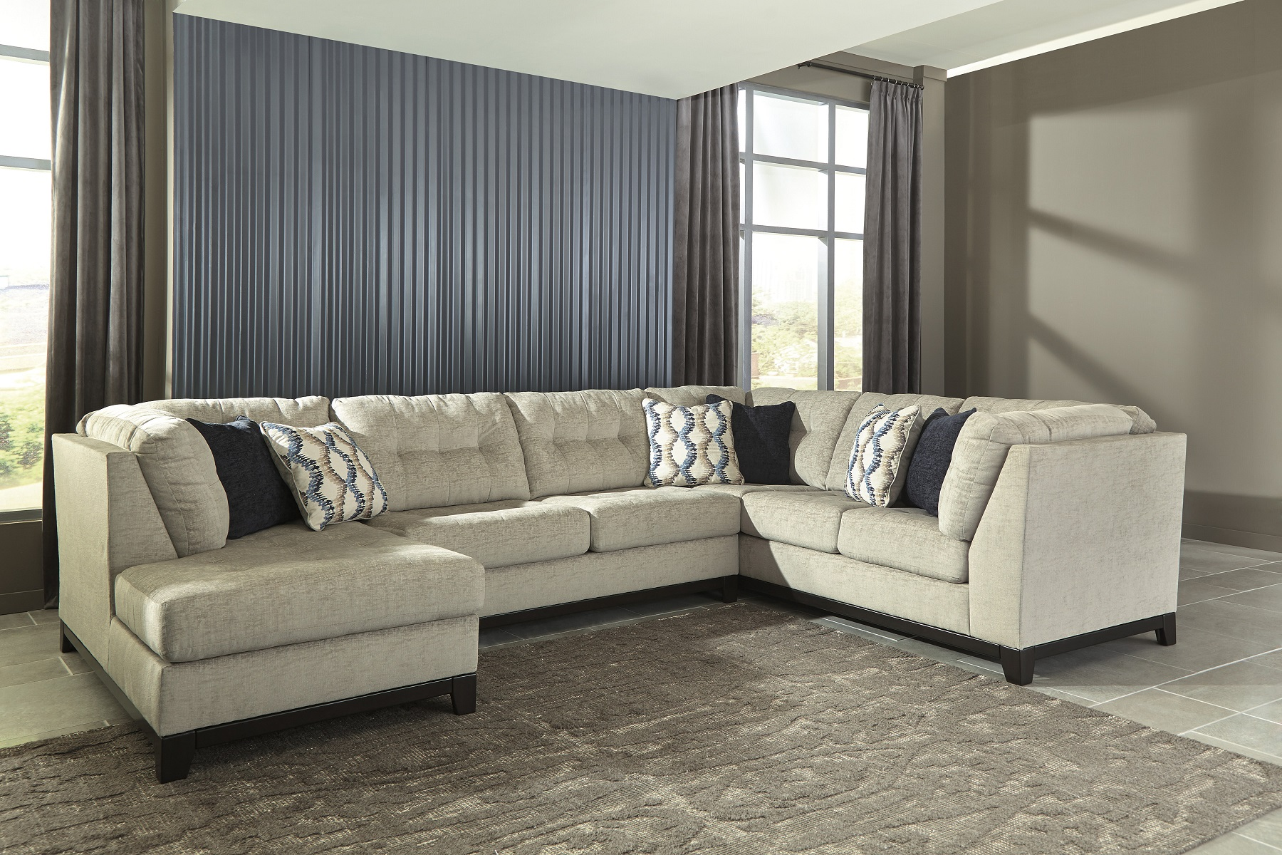 Beckendorf 1500416 by Ashley Sectional Sofa Stone Shade