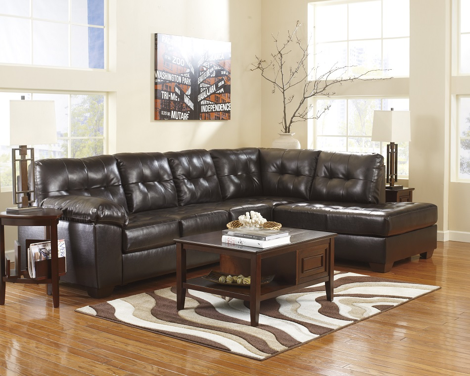 home theater leather sofa outdoor pallet plans ashley furniture alliston durablend chocolate collection ...