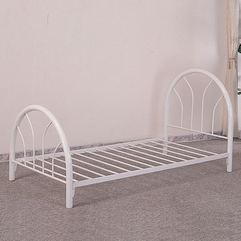 Furniture Outlet White metal frame twin Bed Kids
