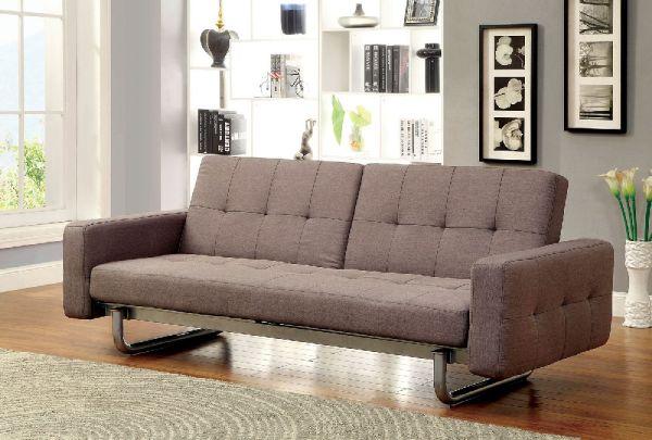Furniture Of America 2704 Brown Contemporary Adjustable Sofa Bed Futon