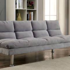 Plush Archer Sofa Bed Price Sectional Chaise Storage Furniture Of America 2902gy Grey Soft Microfiber
