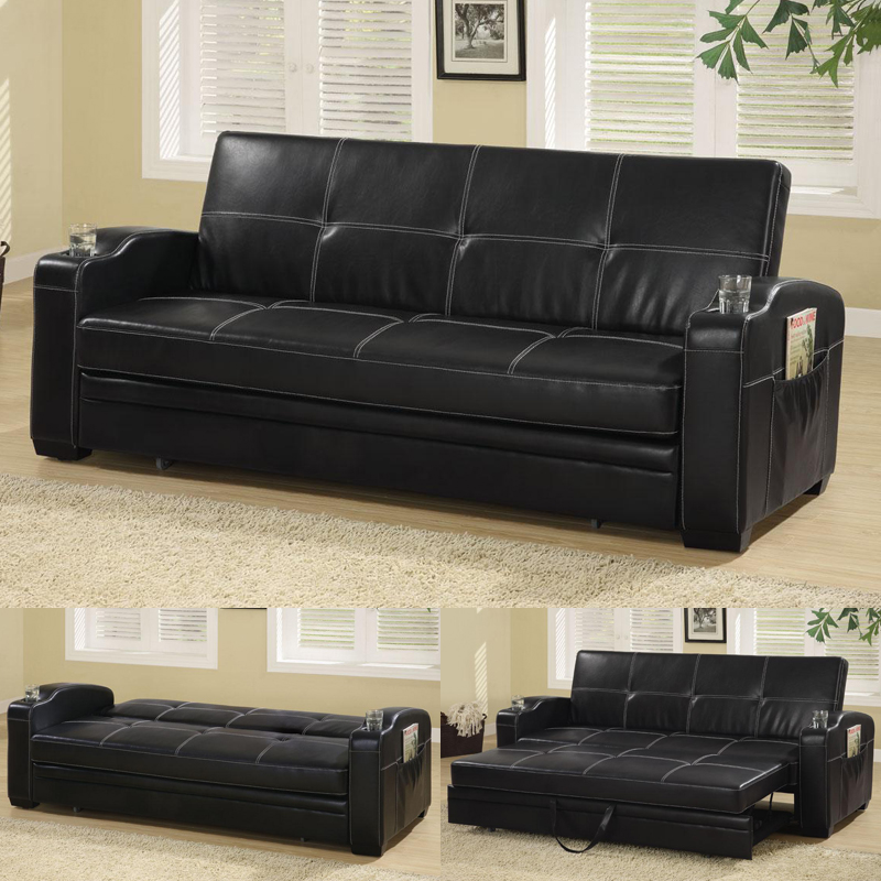 reclining sofas and loveseats sets sofa bed spring replacement coaster furniture, black futon, click clack, klik klak ...