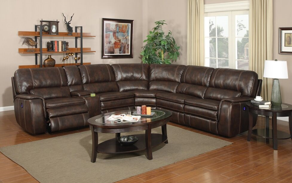 E motion Belmont Shores Power reclining brown sectional