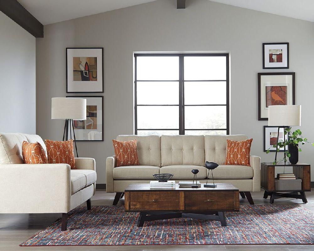 Scott Living Montana 506171 Mid Century Angled Leg Sofa