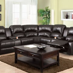 Custom Sofa San Diego L Shaped Designs In Stan Furniture Of America Aberdeen 6557bp Black Reclining