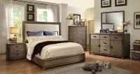 Furniture of America Antler 7615 ash wood fabric headboard ...