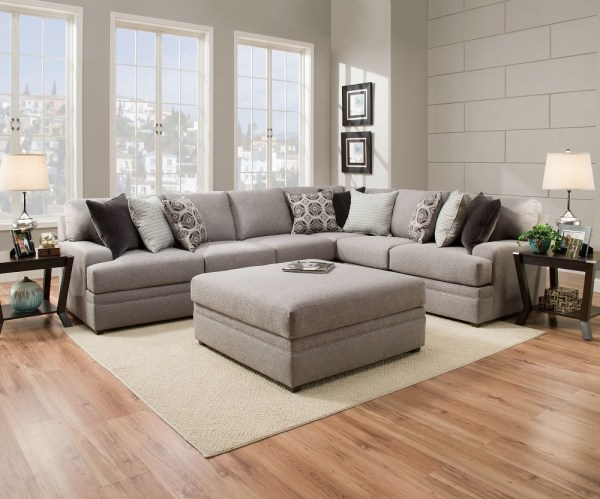 Simmons Beautyrest 8561 Pocket Coil Grey Sectional Sofa San Diego Los Angeles Irvine