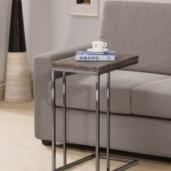 Small Table That Slides Under Sofa Wing Chair Coaster 902864 Weathered Gray Folding Expandable Snack