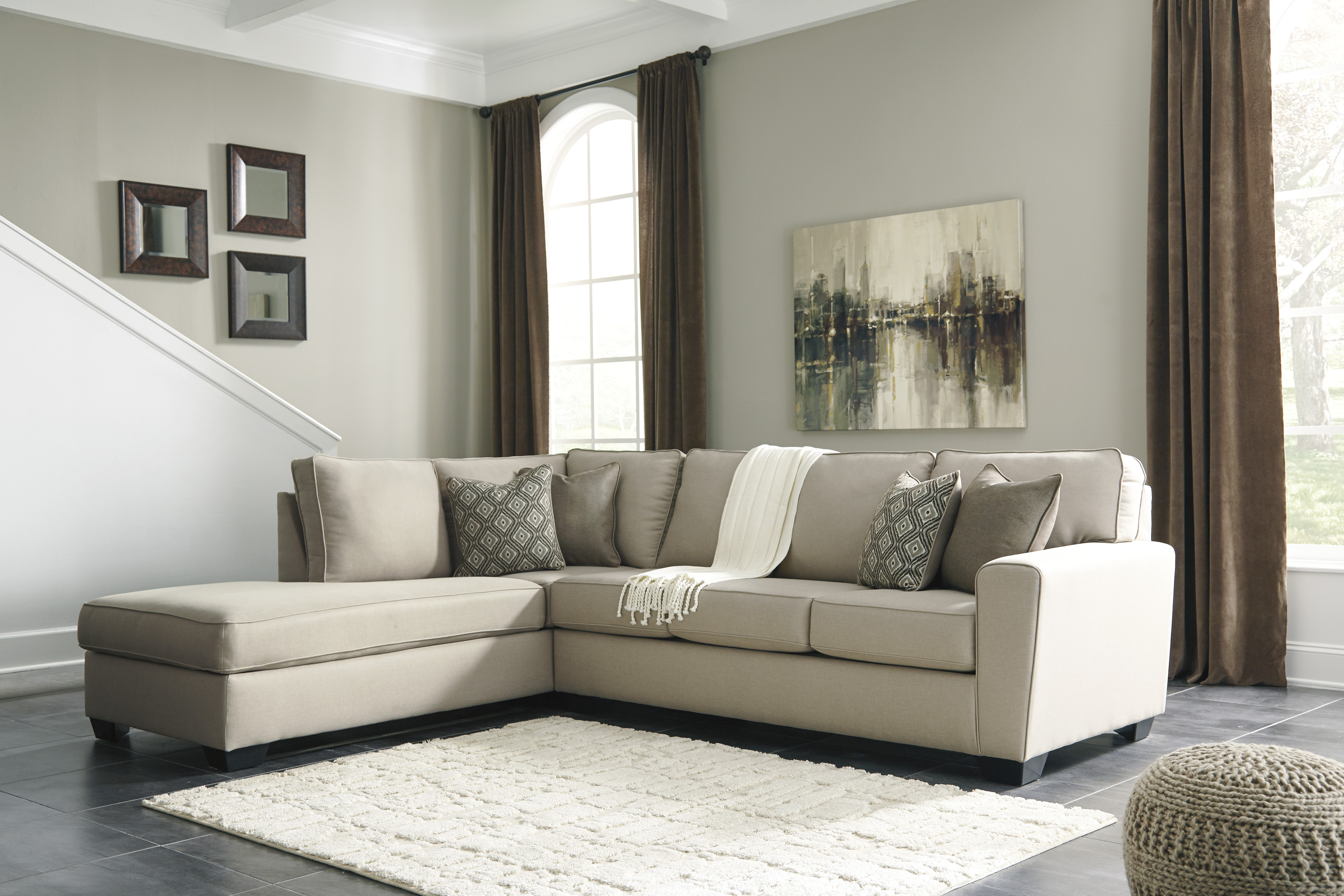 Calicho By Ashley 91203 17 Cashmere Cream Sectional Cream