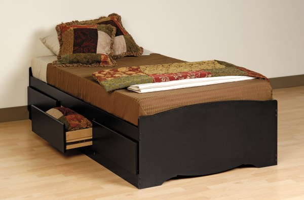 Prepac Black Twin Platform Storage Bed 3-drawers Bbt4100 Furniture Outlet San Diego
