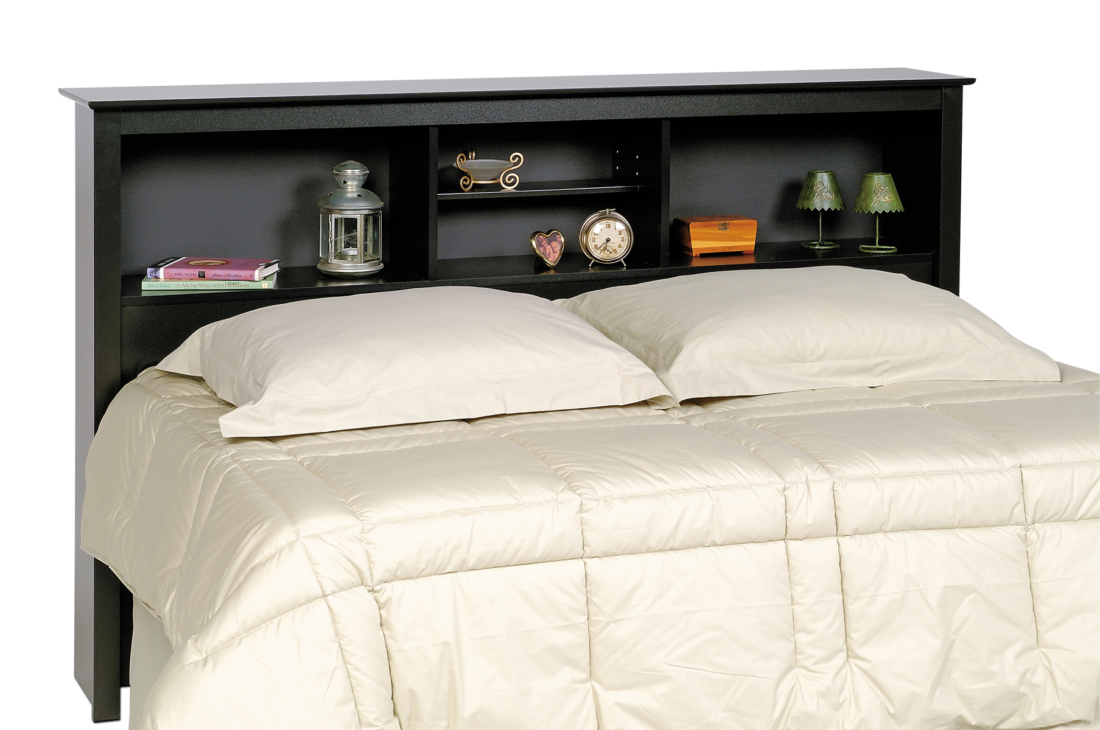 Prepac Black Full Queen Storage Headboard BSH6643 Furniture Outlet Jeromes Mor Furniture